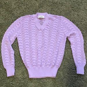 Vintage lavender Vneck sweater